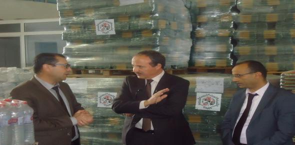 إعطاء إشارة انطلاق توزيع الدفعة الأولى من المساعدات التي أذنت بها رئاسة الحكومة